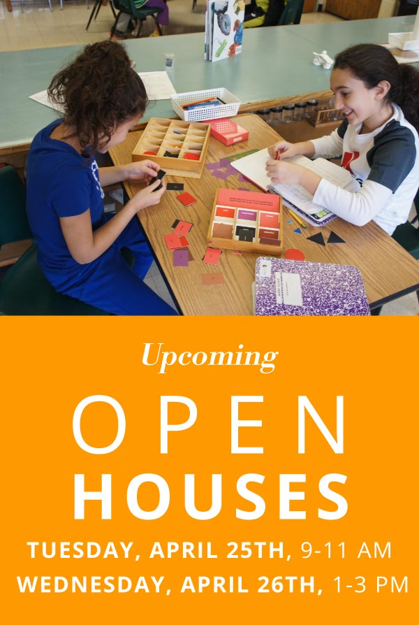 Join us for our Open Houses - April 25 from 9-11 am and April 26 from 1-3 pm